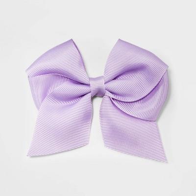Girls' Solid Bow Clip - Cat & Jack™ Lavender