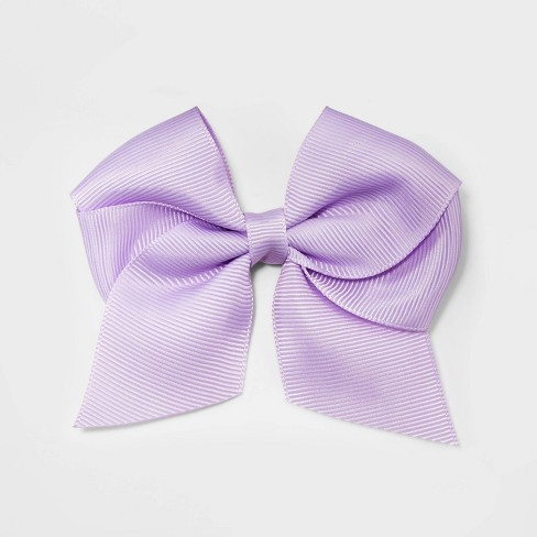 Girls' Solid Bow Clip - Cat & Jack™ Lavender - image 1 of 2