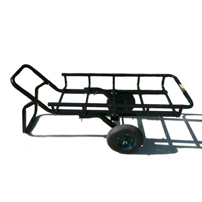 Viking Solutions VKS-VTG401 Tilt-N-Go Combo Lifting Hunting Deer Trailer and Hauler Cargo Rack with Hitch Adapter and 13.5 Inch Wheels, Black