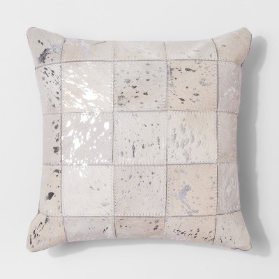 Patched Hide Throw Pillow (14 )- Threshold™