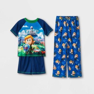 Boys' Nintendo Zelda 3pc Pajama Set - Blue