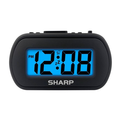 """1"""" LCD with Top Control Clock Black - Sharp - image 1 of 3"""