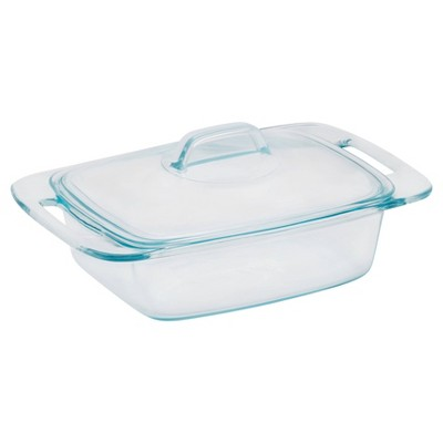 Pyrex Easy Grab 2qt Glass Casserole Dish with Lid