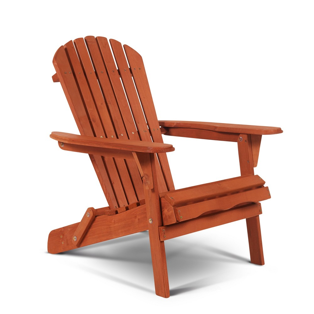 Villaret Adirondack Chair Walnut (Brown) - Thy Hom