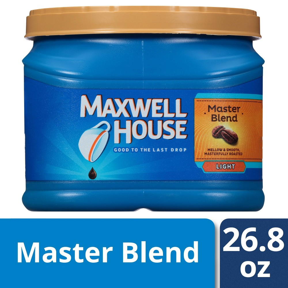 Maxwell House Master Blend Medium Light Roast Ground Coffee 26 8oz