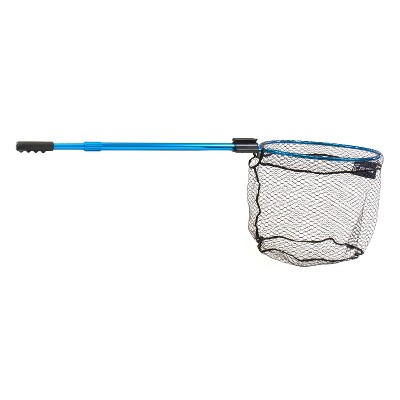 CLAM 15736 Fortis Bass Fishing Angling Landing Net with 110 Inch Telescoping Handle, Conservation Focused Design, and Rubberized Coating