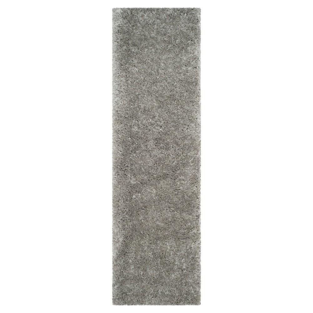 Silver Solid Loomed Runner - (2'3X8' Runner) - Safavieh