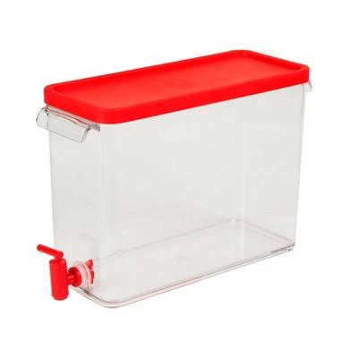 Plastic Beverage Dispenser 2.5gal - Red