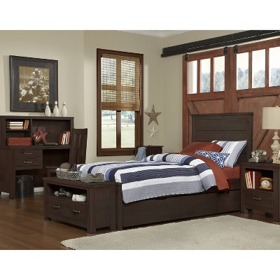 Kids' Twin Highlands Alex Panel Bed with Trundle Espresso - Hillsdale Furniture