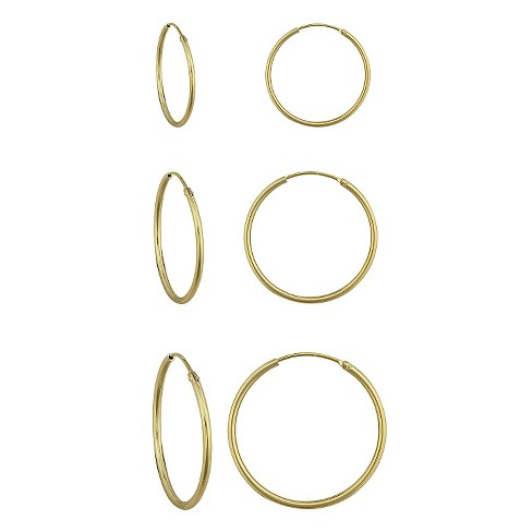 Women's Gold over Silver Endless Hoop Set 3 pk. - image 1 of 1