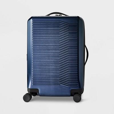 "Hardside 21"" Carry On Spinner Suitcase Denim Blue - Open Story™"