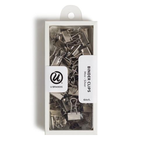 U Brands 60ct Mini Binder Clips Silver - image 1 of 4