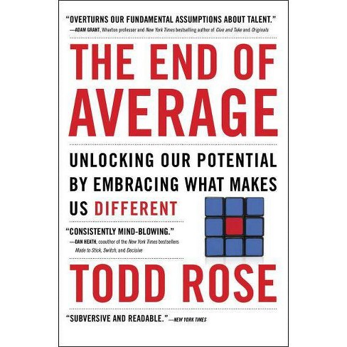 The End of Average - by  Todd Rose (Paperback) - image 1 of 1