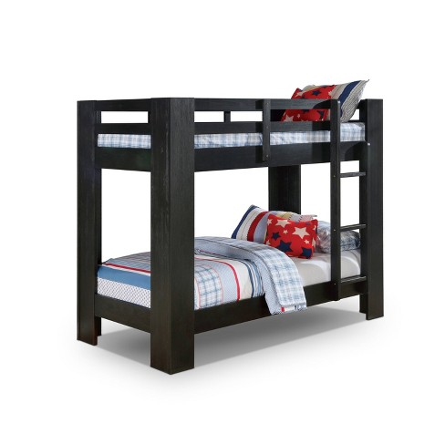 Twin Over Twin Findlay Built In Ladder Bunk Bed Wire Iohomes Target