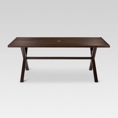 Mayhew Aluminum Top Rectangle Patio Dining Table Brown - Threshold™