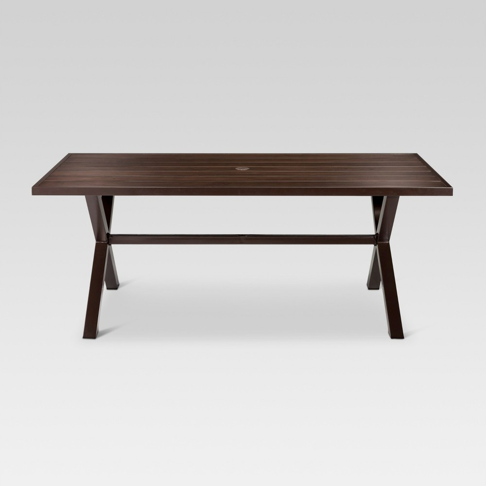 Mayhew Aluminum Top Rectangle Patio Dining Table Brown - Threshold