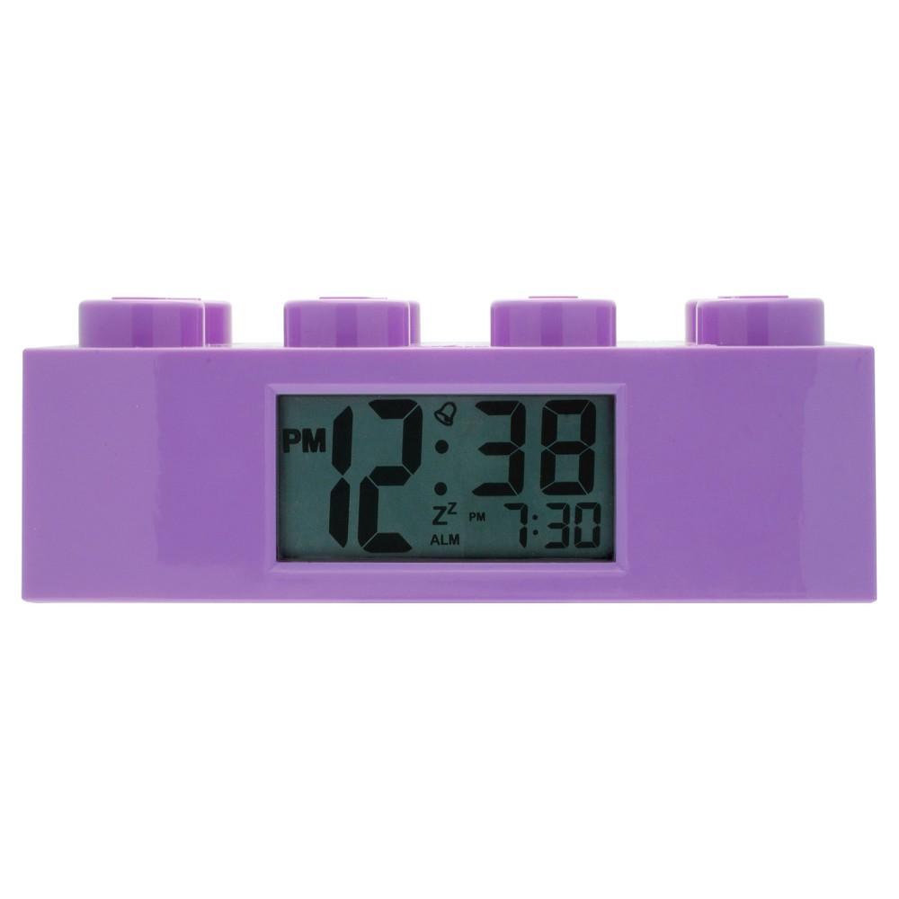 Image of Lego Friends Purple Brick Alarm Clock