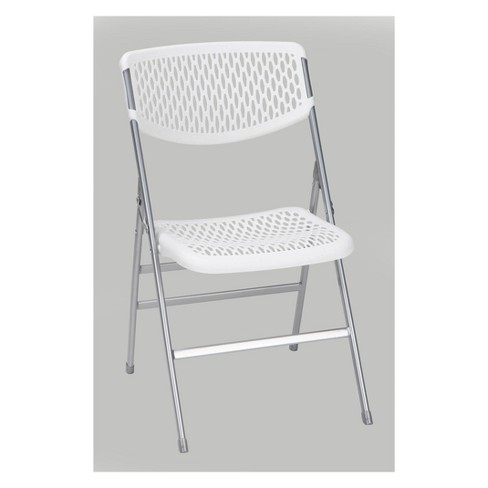 Magnificent Commercial Resin Mesh Folding Chair Black Cosco Pabps2019 Chair Design Images Pabps2019Com