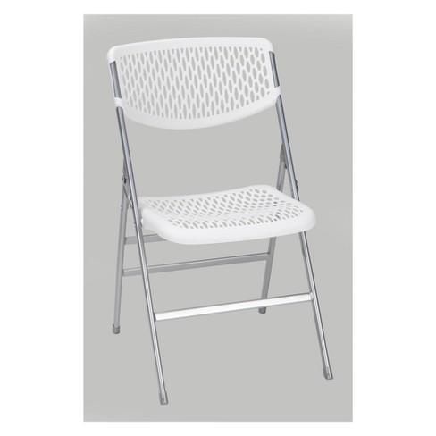Commercial Resin Mesh Folding Chair Black - Cosco