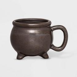 11oz Stoneware Cauldron Figural Mug Metallic - Threshold™