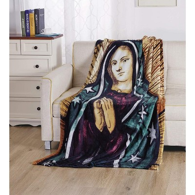 "Super Soft Oversized Microplush Religious Christian Themed 50"" x 70"" Throw Blanket"