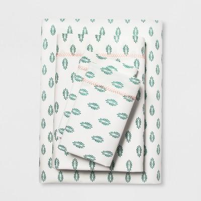 Cotton Percale Print Sheet Set (Queen)Mint - Opalhouse™