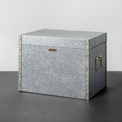 Galvanized Storage Box - Medium - Hearth & Hand™ with Magnolia