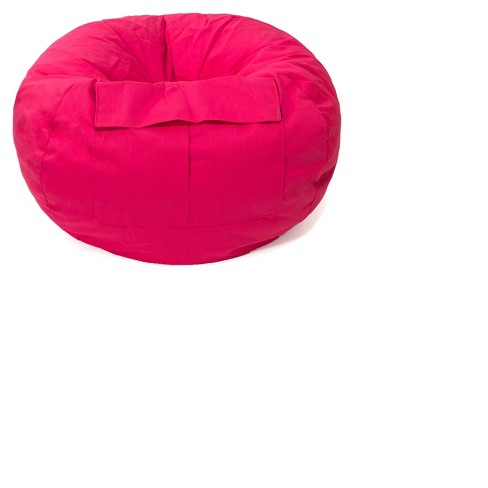 Small Denim Look Bean Bag Chair with Cargo Pocket - Gold Medal - image 1 of 2