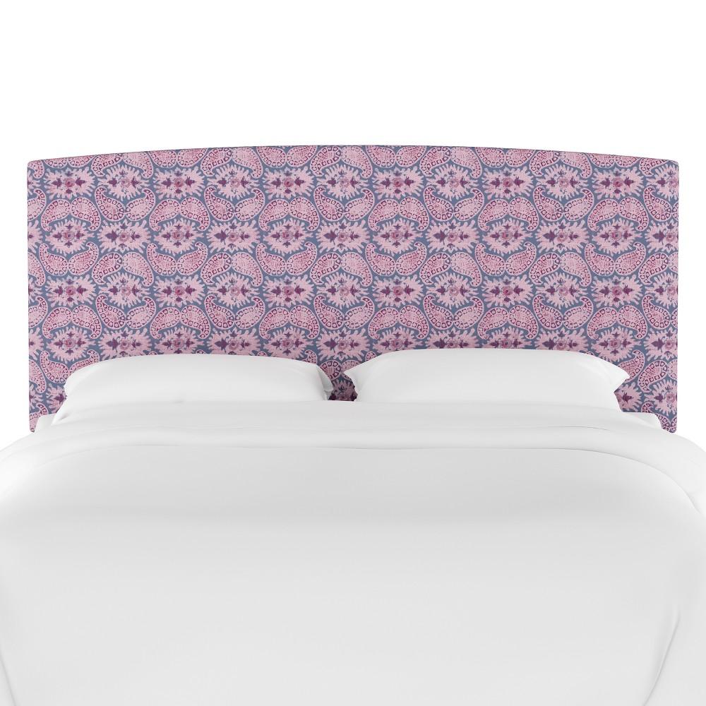 Upholstered Headboard Twin Paisley Purple - Opalhouse, Purple Paisley
