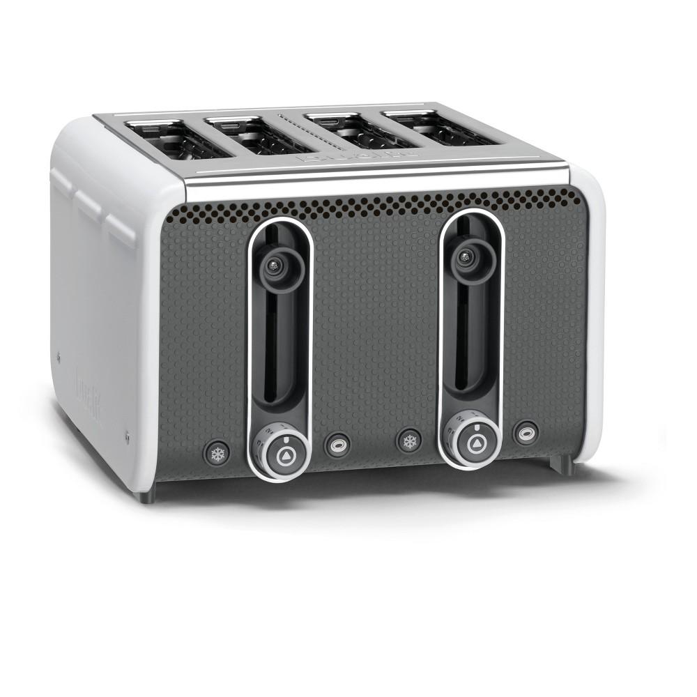 Image of Studio 4 Slice White Toaster - White 46432, White/Gray