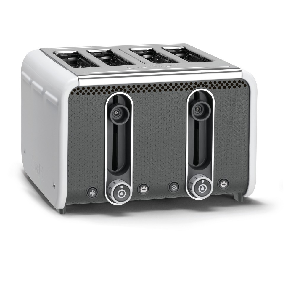 Studio 4 Slice White Toaster – White 46432, White/Gray 52830993