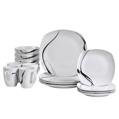 16pc Porcelain Carnival Dinnerware Set - Tabletops Gallery