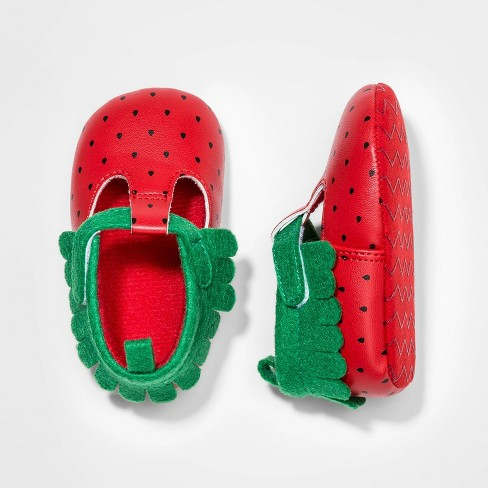 Baby Girls' Strawberry Crib Shoes - Cat & Jack™ Red - image 1 of 1