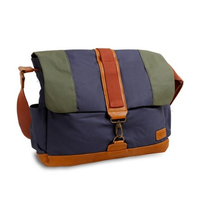 J World Sam Canvas Messenger Bag - Navy