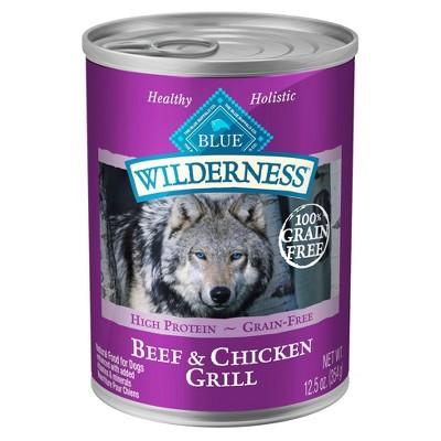 Dog Food: Blue Buffalo Wilderness Adult Canned Food