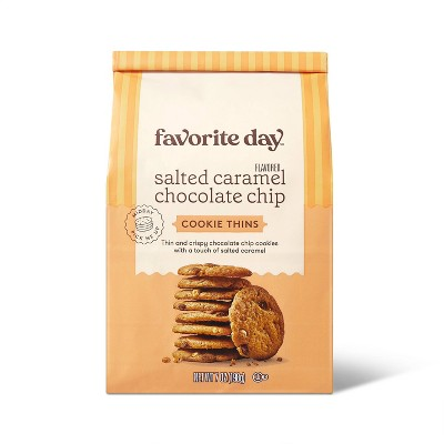 Salted Caramel Chocolate Chip Cookie Thin - 7oz - Favorite Day™