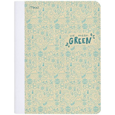 Composition Notebook Recycled Wide Ruled Blue - Mead