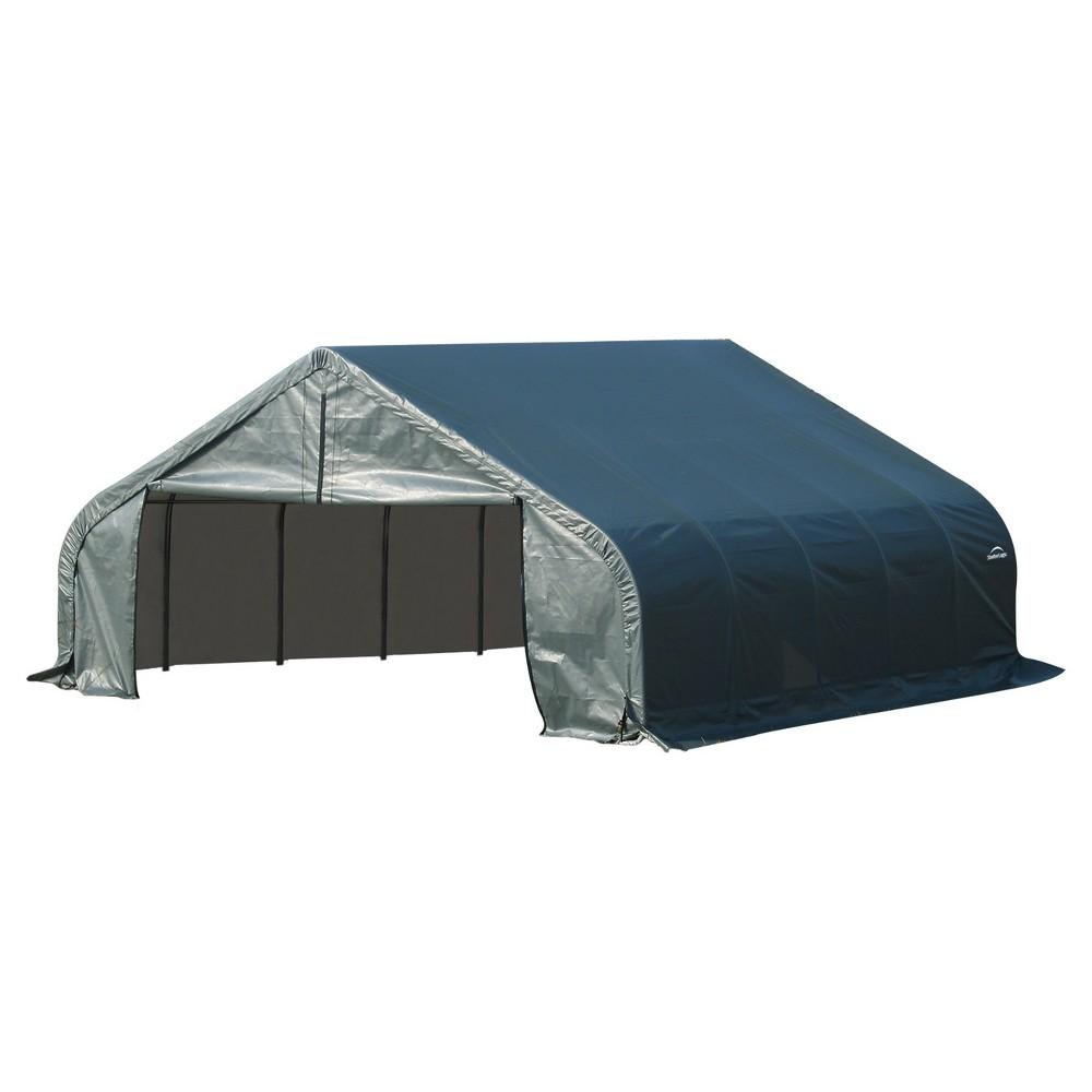 22' X 28' X 10' Peak Style Shelter- Green - Shelterlogic