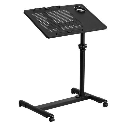 Adjustable Height Steel Mobile Computer Desk - Flash Furniture - image 1 of 2