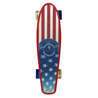 "Kryptonics 22.5"" Originals Printed Flag Skateboard - Red/White/Blue"