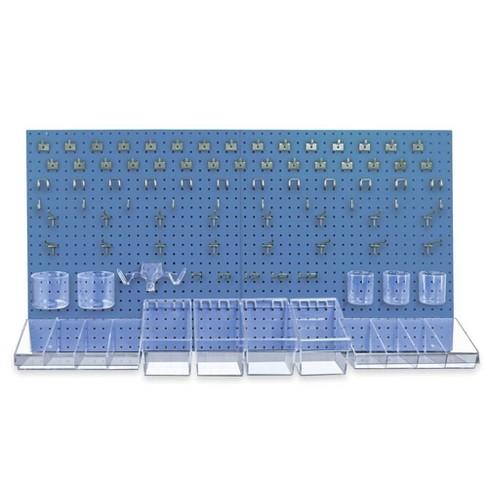 Azar Displays 900988 Pegboard Organizer Kit - Blue - image 1 of 1