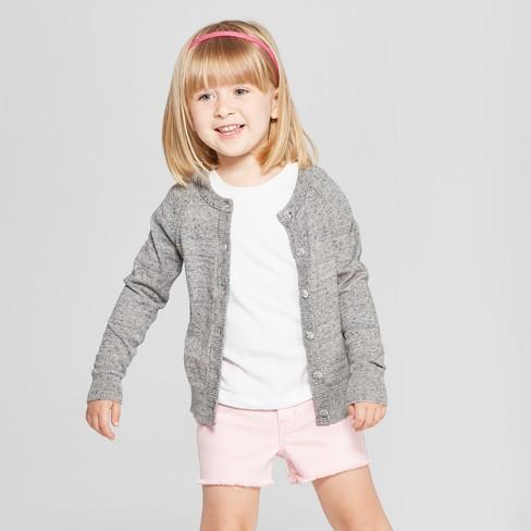 994b56af4e9b Toddler Girls  Cardigan - Cat   Jack™ Gray Heather   Target