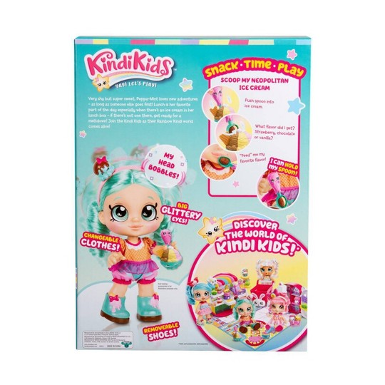 Kindi Kids Snack Time Friends Doll - Peppa-Mint image number null
