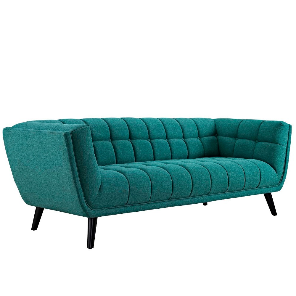 Bestow Upholstered Fabric Sofa Teal (Blue) - Modway