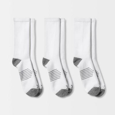 Men's Striped Arch Crew Socks 3pk - All in Motion™ 6-12
