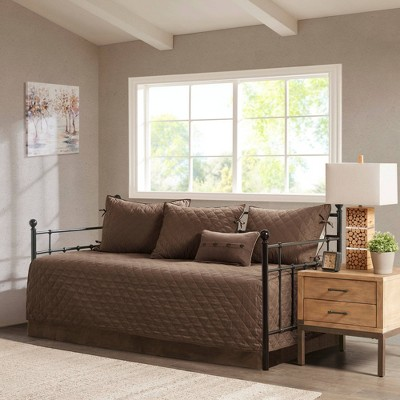Powell Daybed 6pc Reversible Daybed Cover Set Brown