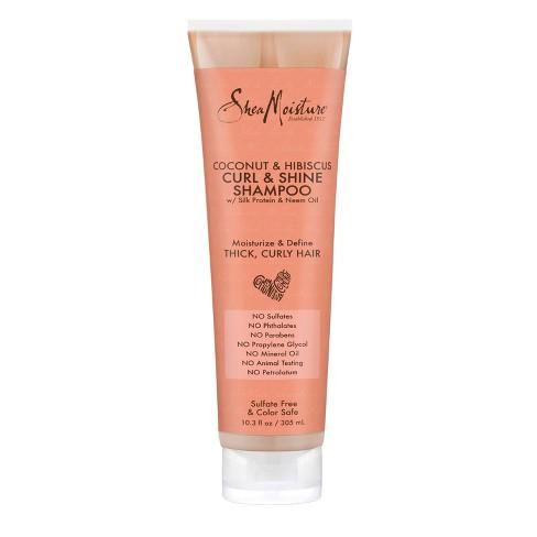 SheaMoisture Coconut & Hibiscus Curl & Shine Shampoo - 10.3 fl oz - image 1 of 4