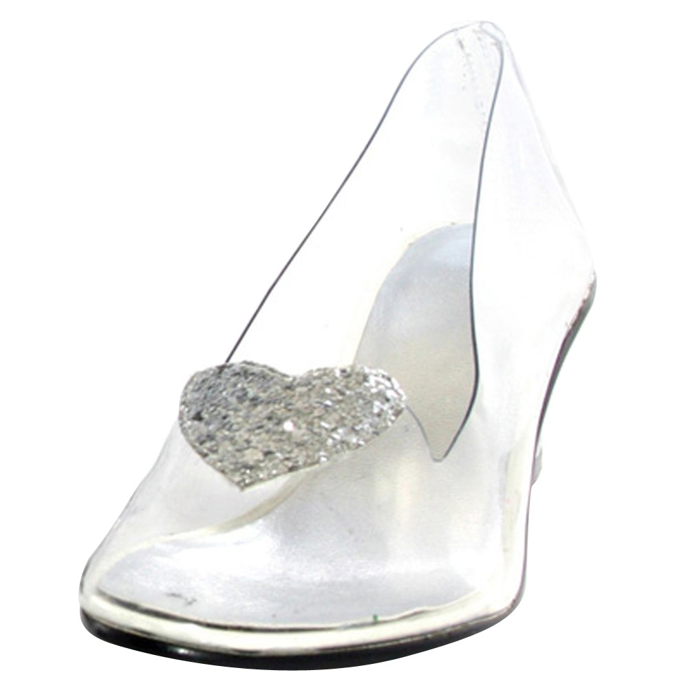 Women's Disney Princess Cinderella Clear Costume Shoes- 10, Size: 10.0