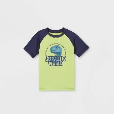 Toddler Boys' Jurassic World Rash Guard Swim Shirt - Green