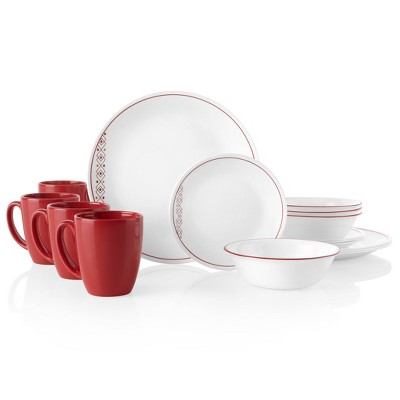 Corelle Classic 16pc Glass Fusion Chili Dinnerware Set